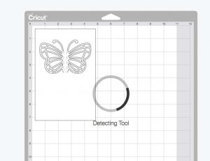 Butterfly Card SVG on Cutting Mat