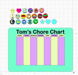 Chore Chart imported into Design Space SVG