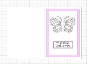 Cricut Butterfly Card Layout SVG