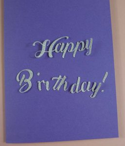 Happy Birthday Message on Card