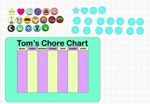 Layout for Chore Chart SVG