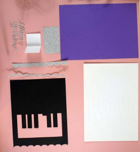 Pieces for Pop up Piano Keyboard Card