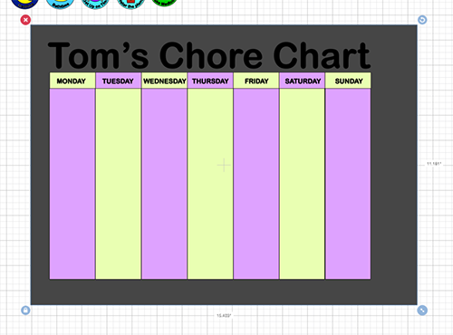 Chore Chart in Progress Free SVG