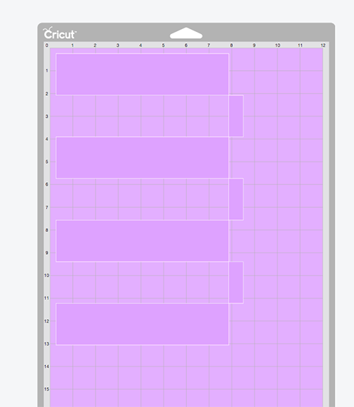 Cutting chore chart grid on Cricut - SVG