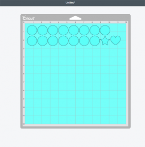 Blank magnets lay out for Chore Chart SVG