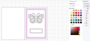 butterfly card for Cricut in Design Space