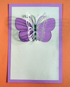 Gluing butterfly card to back SVG