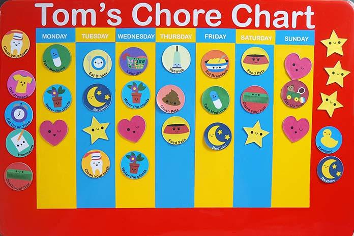 Making a Chore Chart on the Cricut SVG