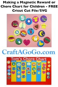 Chore or Reward Chart with Magnets FREE SVG