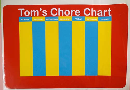 Assembling the vinyl Chore Chart - Cricut SVG