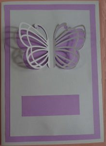 Front of Butterfly Card Cricut