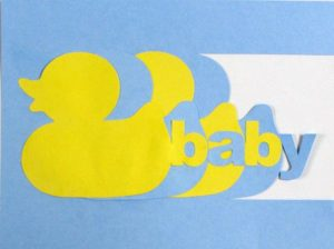 Baby Boy Duck Card