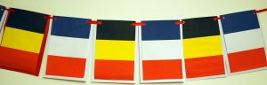 Belgium and French World Cup 2018 Flags