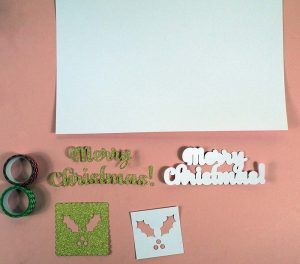 Christmas Card Pieces Cricut