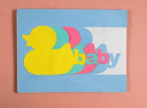 Cricut New Baby Card