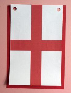 England Flag Banner SVG