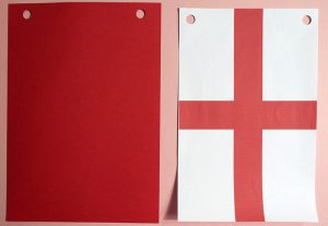 England Flag and Backing Pieces