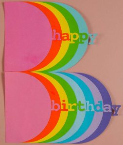 Colourful Happy Birthday Shapes