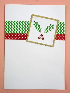 Holly Christmas Card on Cricut