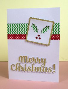 Merry Christmas Card Washi SVG