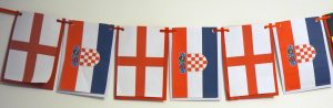 England and Croatia Flags World Cup 2018