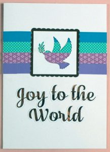 Peace Dove Christmas Card SVG