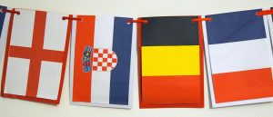 World Cup Semis 2018 Flags