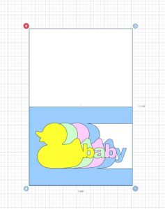 imported duck baby card svg