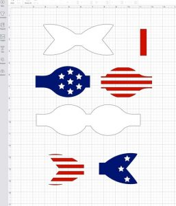 patriotic bow pieces