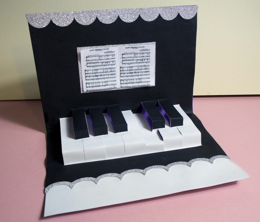 Pop-up Piano Card: Cricut Project