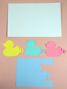 Pieces for Baby Duck Card Cricut