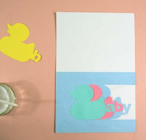 putting together duck card cricut