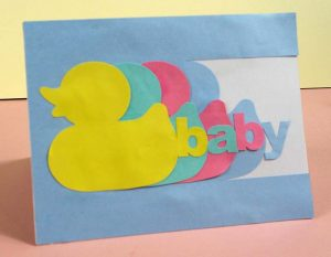 rubber duck new baby card