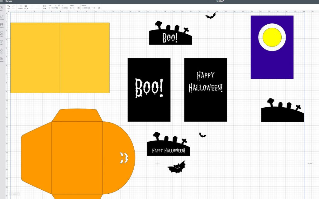 halloween card cricut design space