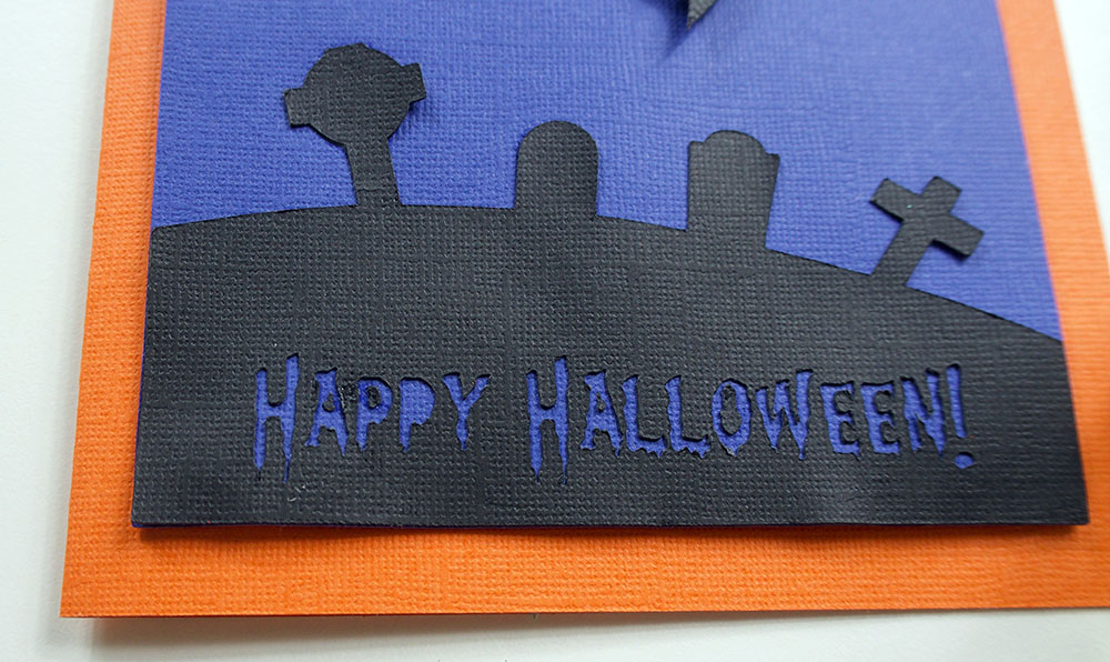 happy halloween card Cricut