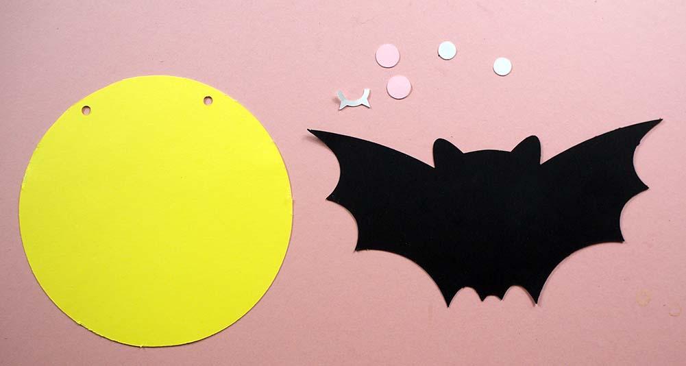 Halloween Bat Bunting Pieces