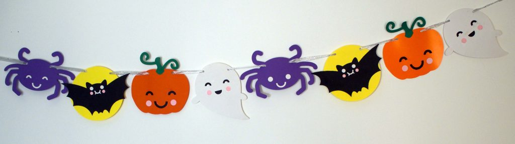 Halloween Bunting Cut Files for Cricut or Silhouette