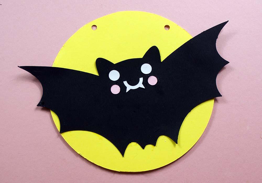 bat bunting cut file for cricut