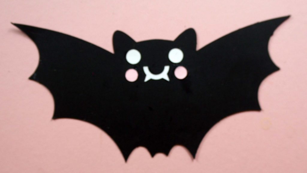bat with cheeks cricut