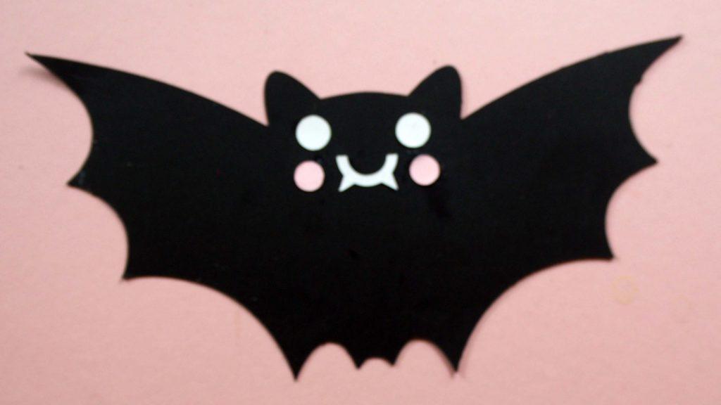 bat with cheeks cricut