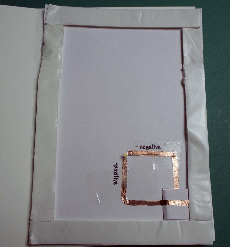foam adhesive applied to cricut christmas card