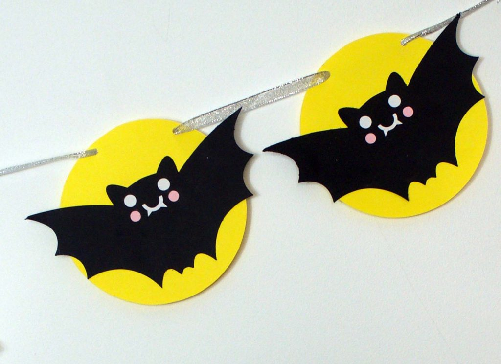 Kawaii Bats Bunting for Cricut or Silhouette