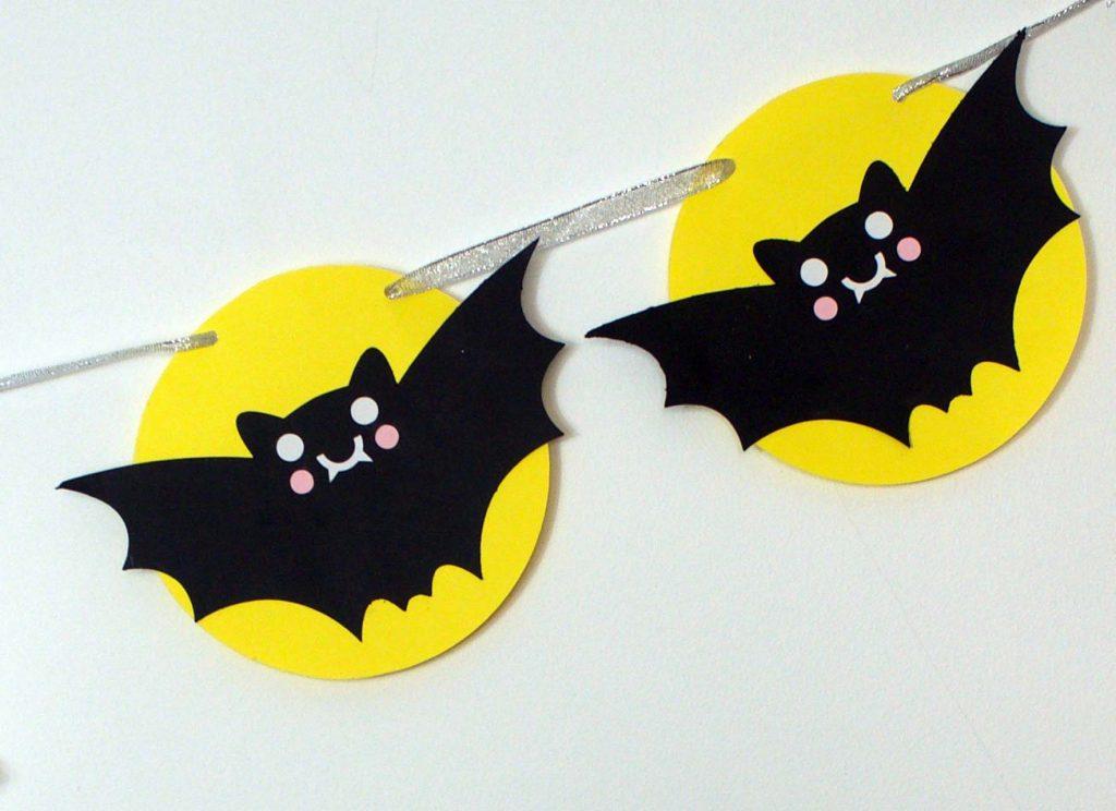 Kawaii Bats Bunting for Cricut or Silhouette