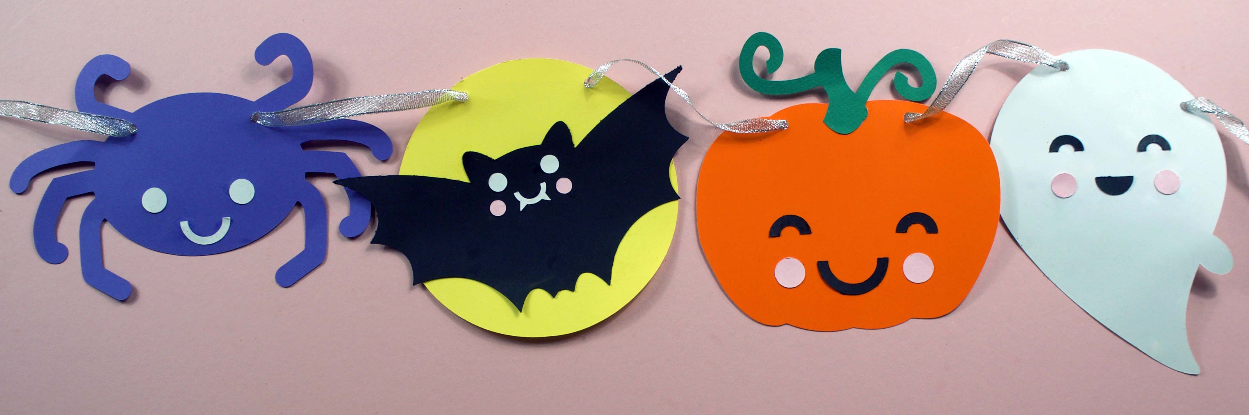 halloween kawaii bunting for cricut or silhouette