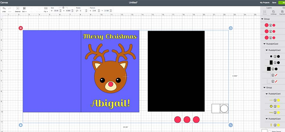 import cricut christmas card