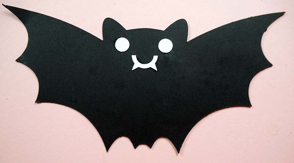 kawaii bat with white face cricut