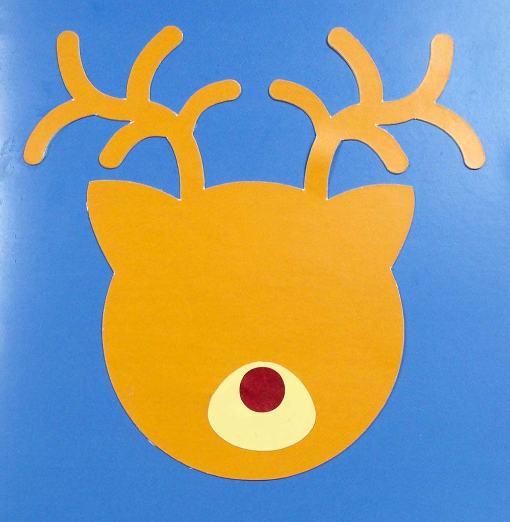 muzzle on reindeer led card