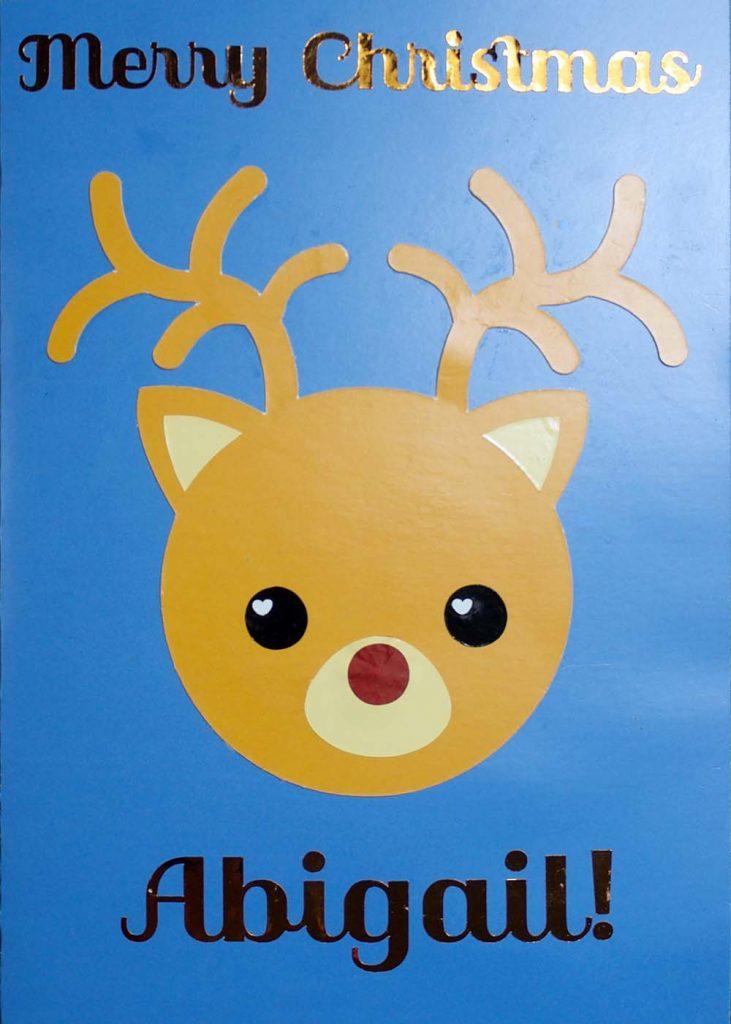reindeer led card svg text applied