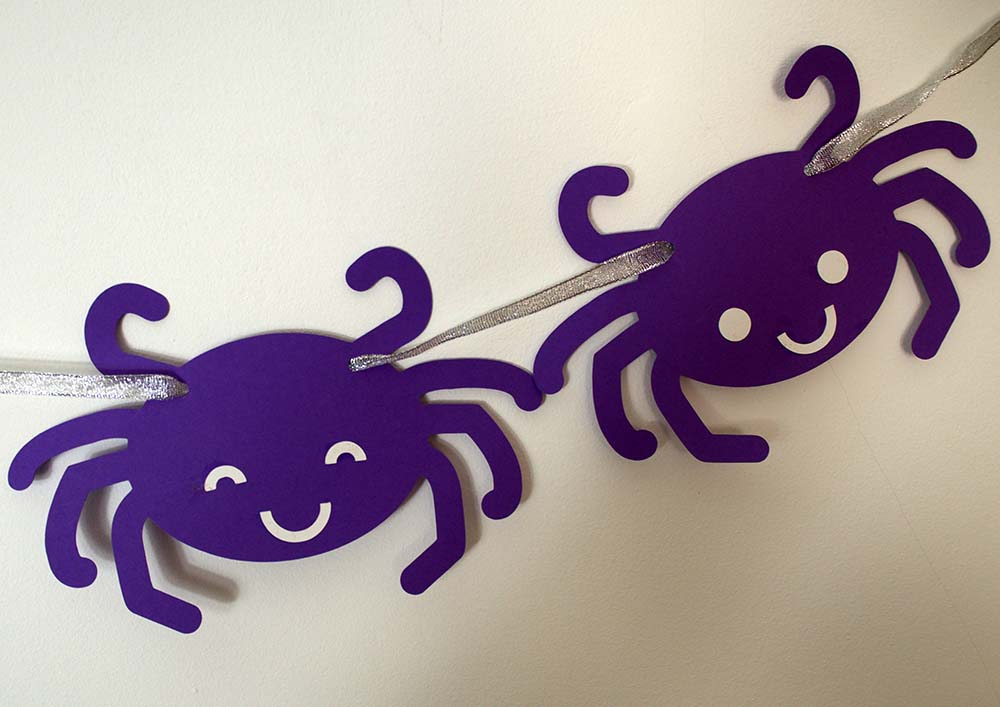 Kawaii Spiders Bunting for Cricut or Silhouette