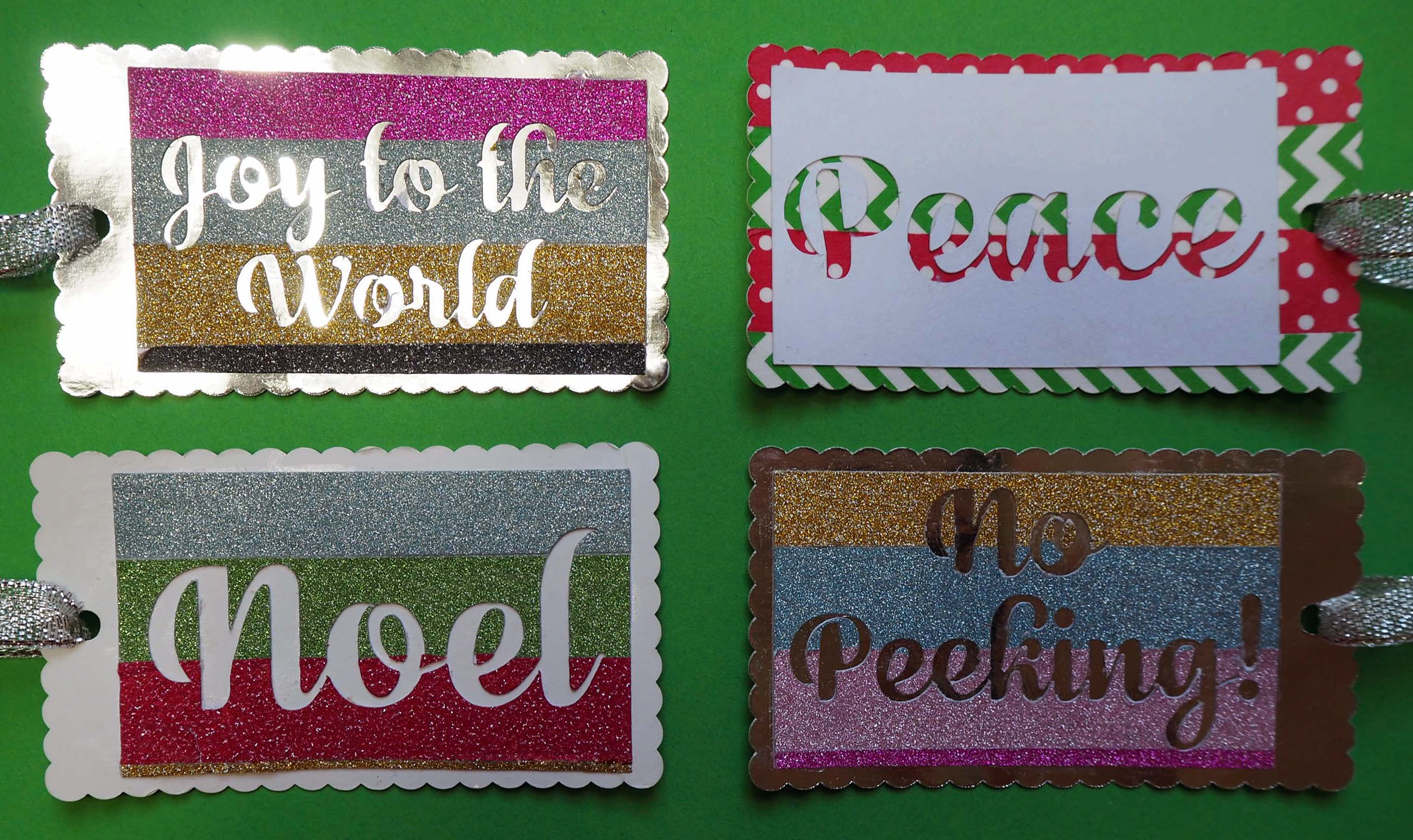 washi tape christmas tags